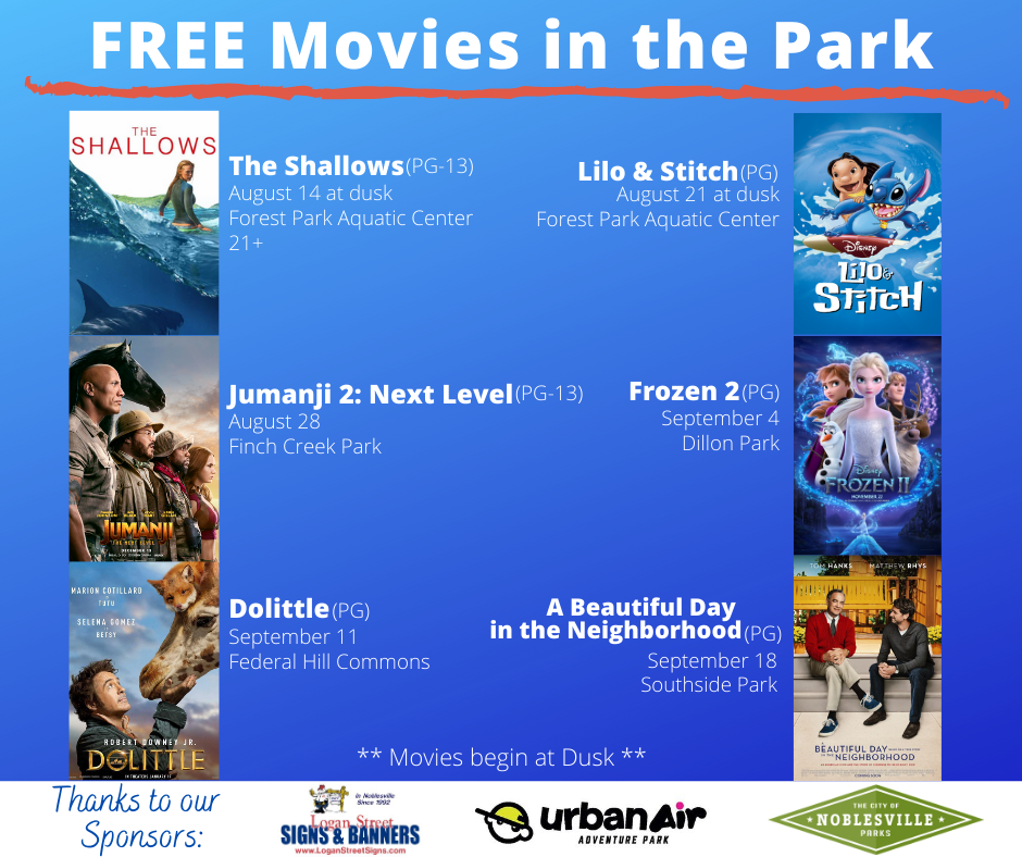 Free Movies in the Park 2020